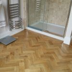 Bathroom Karndean Art Select Blonde Oak Blockwood flooring