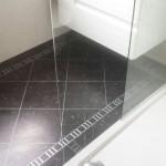Bathroom Karndean Knight Tile Midnight Black with custom border 3