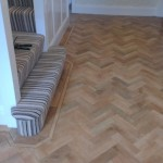 Border detail on curved step
